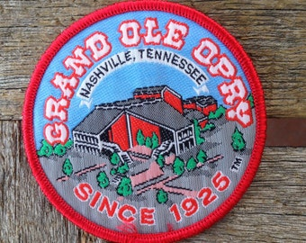 Grand Ole Opry Nashville Tennessee Vintage Souvenir Travel Patch
