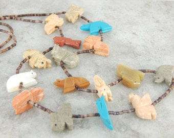 Native American Totem Animal Beaded Necklace 9J8WHQ-N