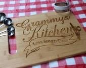 Grandma's Kitchen - LOVE Served Daily-  Personalized Cutting Board * YaYa * MiMi * Granny * MawMaw *  NaNa