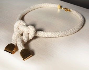 Chic rope necklace/ Eco friendly handmade necklace/ statement rope necklace .