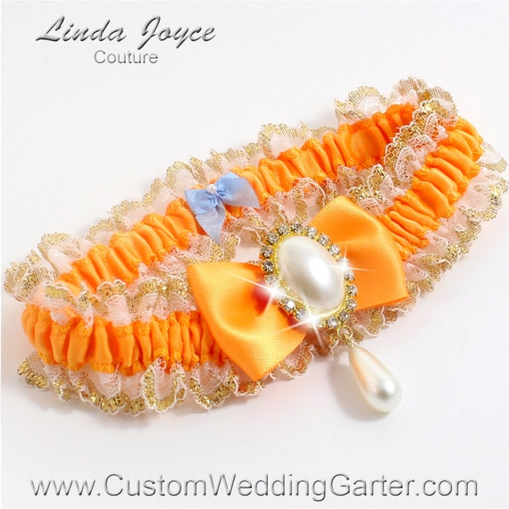 Items Similar To Orange Yellow And Gold WEDDING GARTER