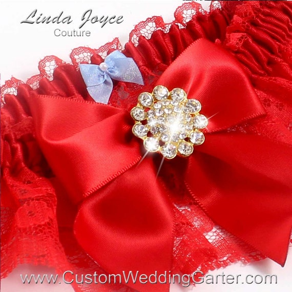 Red Wedding Garters: Red Wedding Garters Bridal Garter Lace By CustomWeddingGarter