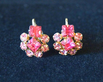 Vintage Pink Stone Earrings