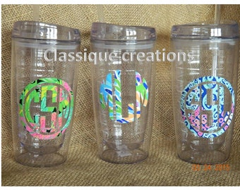 Lily Pulitzer Insulated Cup with straw