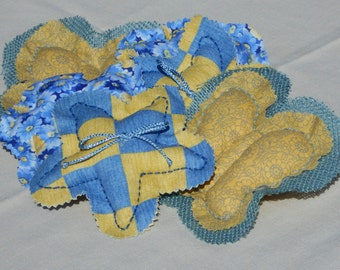 Summertime Blues/Yellows Bowl/Basket Filler - Country Home Decor