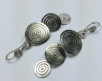 """Big spiral earrings""""eterrnity"""""""