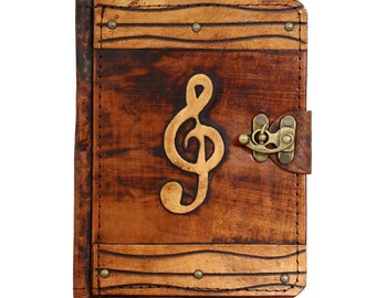 Solo Music Decoration Leather Kindle Touch Paperwhite Voyage Kindle 4 5 Case Vintage Leather Hard cover Wallet Cases Covers Lock Brown