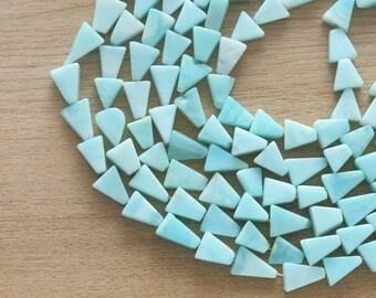 10 pcs of Peru Opal Mini Triangle Beads