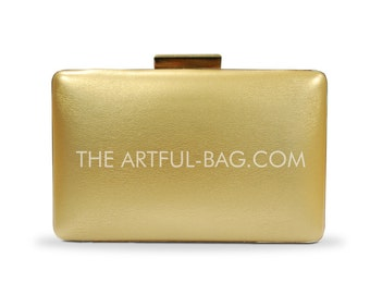 The Gold Essential Clutch From The-Artful-Bag.com