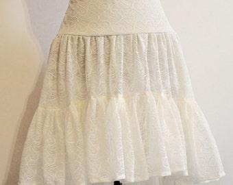 skirt mori steampunk lace white
