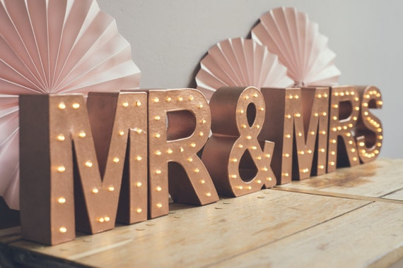 freestanding mrs mrs marquee letter light light up