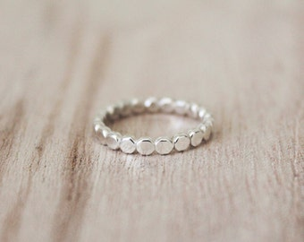 Pebble stacking ring, stacking ring, stacking rings, stacker, stackable ring, sterling silver, pebble band
