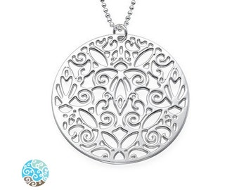 Sterling Silver Vintage Filigree Necklace