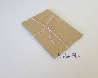 Blank atc aceo cards - Kraft or white