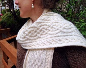 Grainne Cabled Scarf Pattern