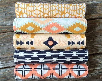 Burp Cloths ~ YOU Choose 1 or all 5! ~ Arizona ~ Tribal//South West//Native//Canyon//Tomahawk//Agave