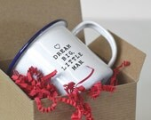 Engraved Enamel Mug. Dream Big Little Man. This Child's Enamelware mug is a great gift for baby boy or baby shower gift
