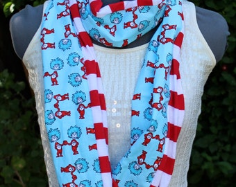 Dr.Seuss Thing One and Thing Two Teacher The Cat in the Hat Infinity Scarf