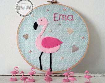 Baby name embroidery hoop / Baby name banner / Baby shower gift / Nursery decor