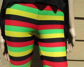 Rasta Stripe Spandex Leggings