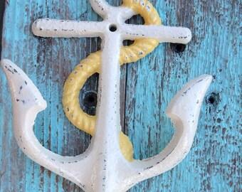 Nautical Cast Iron Anchor Hook Beach House Decor Nursery Accessories