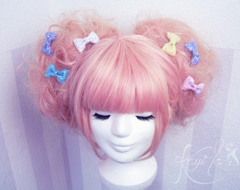 Tiny glitter bows - pair