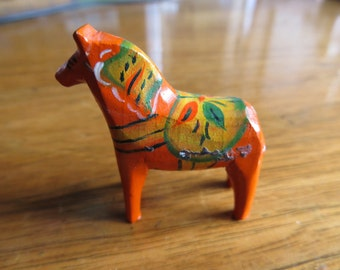 Vintage Mini Folk Art Dala Horse