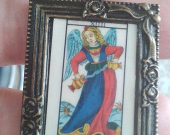 tarot necklace card cabochon