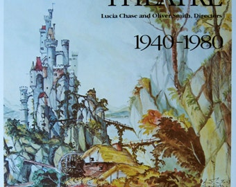 SALE!  Original Vintage Poster American Ballet Theatre 1940-1980 Designed by Oliver Smith  RAREE