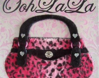Pink Leopard Purse