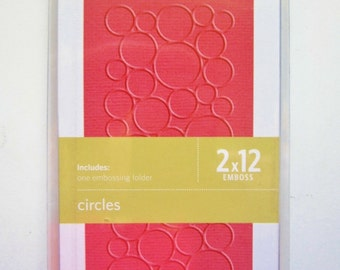 """12"""" Circles QuicKutz Embossing Folder Border EF-BDR-029 Lifestyle Crafts - Looks like Bubbles!"""