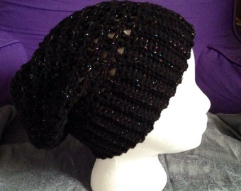 Sparkly mesh slouchy hat or beanie