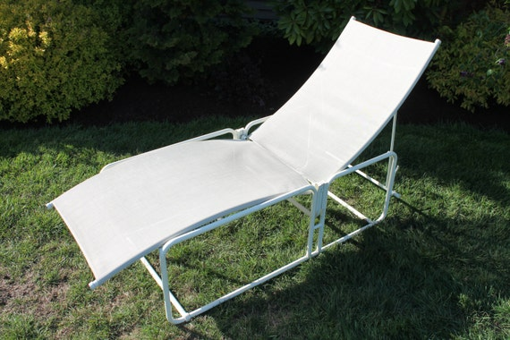 Vintage brown jordan nomad chaise lounge patio chair for Brown and jordan chaise