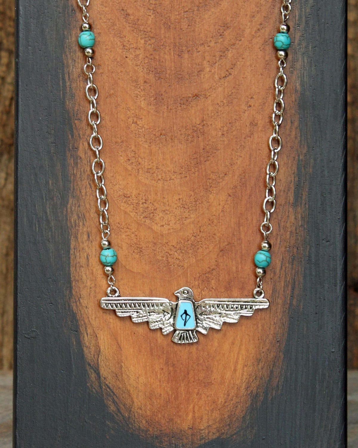 Thunderbird Necklace Turquoise Jewelry Tribal Jewelry