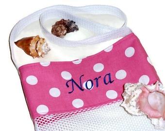 Custom Personalized Bag, Mesh Beach or Pool Tote Bag