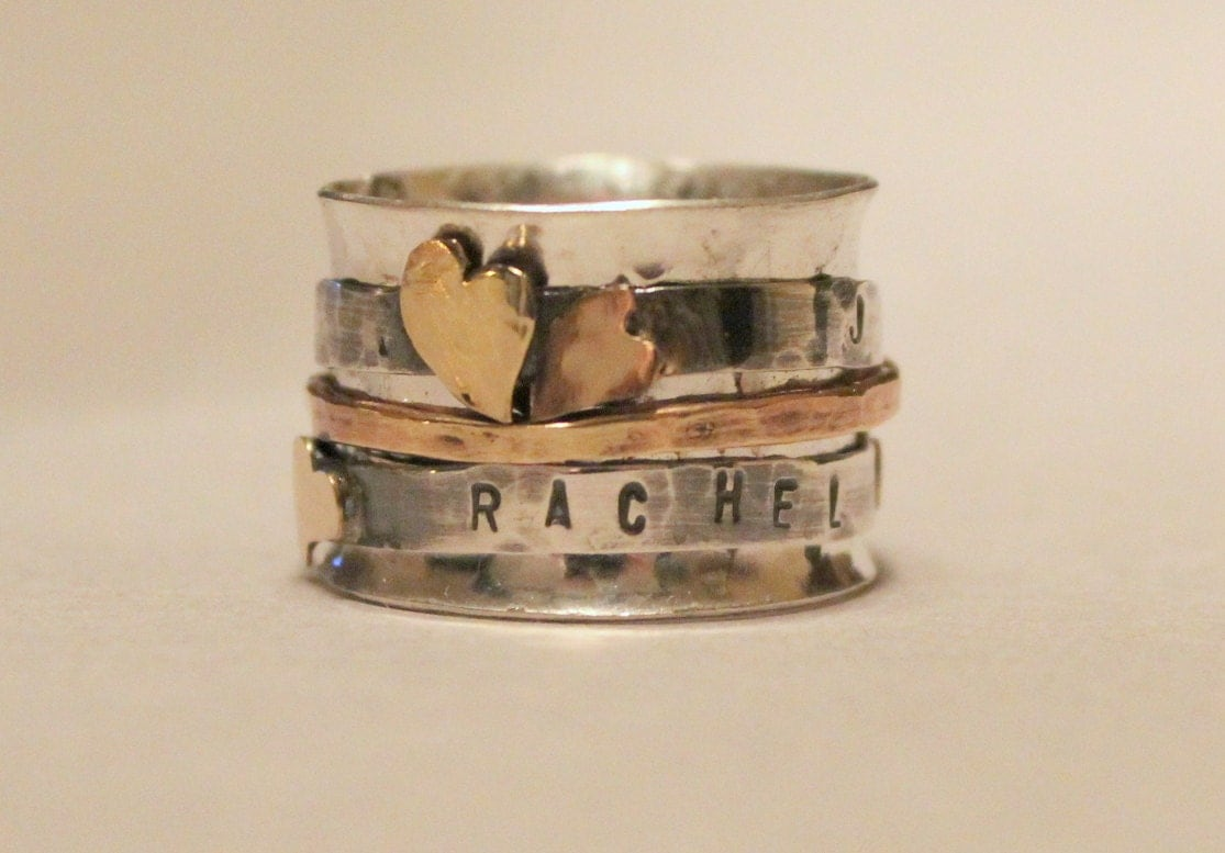 mothers day ring personalized ring 14k personalized ring