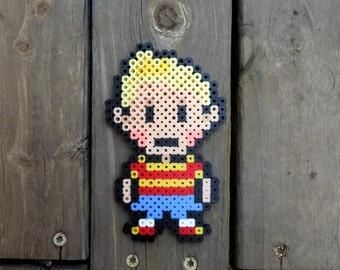 Lucas From Mother 3 Perler Bead Art