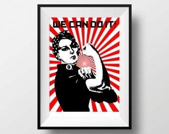 Rosie the Riveter Poster Print - We can do it poster print wall art decor pop art