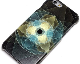 Black Sacred Geometry Eye Phone Case iPhone 6, SE, 6 Plus, 6S, 5, 5C, 5S, Galaxy S6, S7, Note 4, Note 5