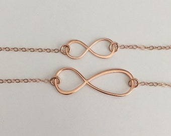 Pink gold infinity Etsy