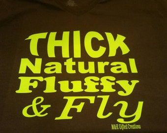 Thick Natural Fluffy Fly -  ladies fit