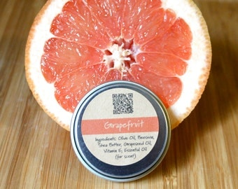 Grapefruit Beeswax Lip Balm Tin