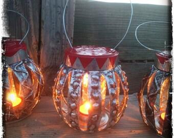 Tin Lantern.   (With Dot Pattern)