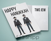 Happy Hanukkah Two Jew - Humor Funny Chanukah  Card