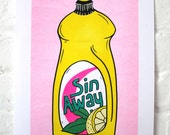 Sin away / Risograph print