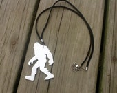 Bigfoot jewelry is one of a kind. Made of thick, sturdy leather and attached to soft suede cording.