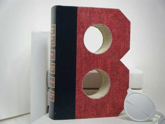 book letters b letter books engagement gift by twistedpages. Black Bedroom Furniture Sets. Home Design Ideas