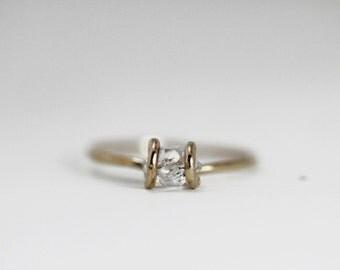 Tiny Herkimer Ring