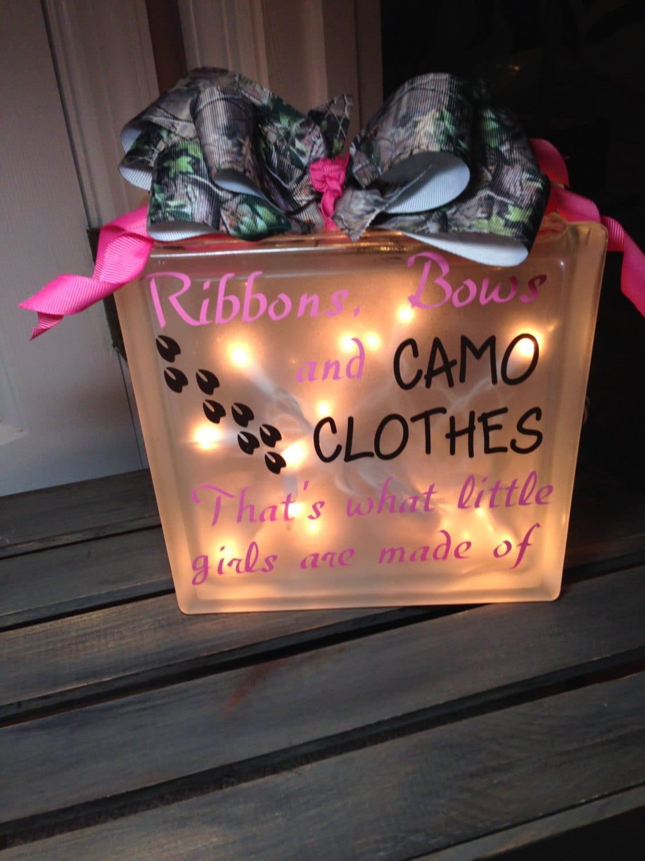 camo baby night light glass block. Black Bedroom Furniture Sets. Home Design Ideas