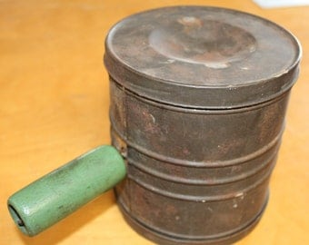 Double Sided Flour Sifter, Vintage Two Sided Sifter